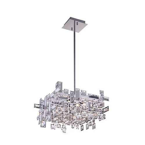 CWI Lighting Arley 21 inch 8 Light Chandelier with Chrome Finish