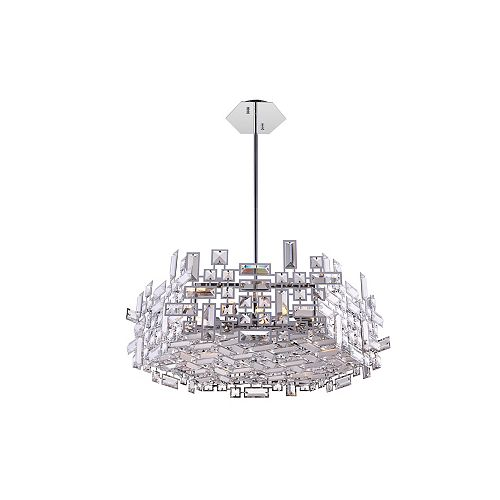 CWI Lighting Arley 24 inch 12 Light Chandelier with Chrome Finish