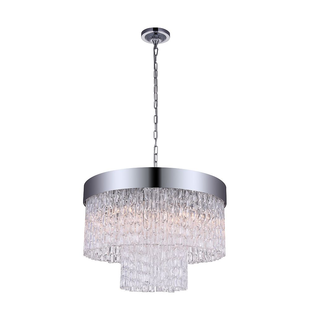 CWI Lighting Carlotta 18 inch 6 Light Chandelier with Chrome Finish