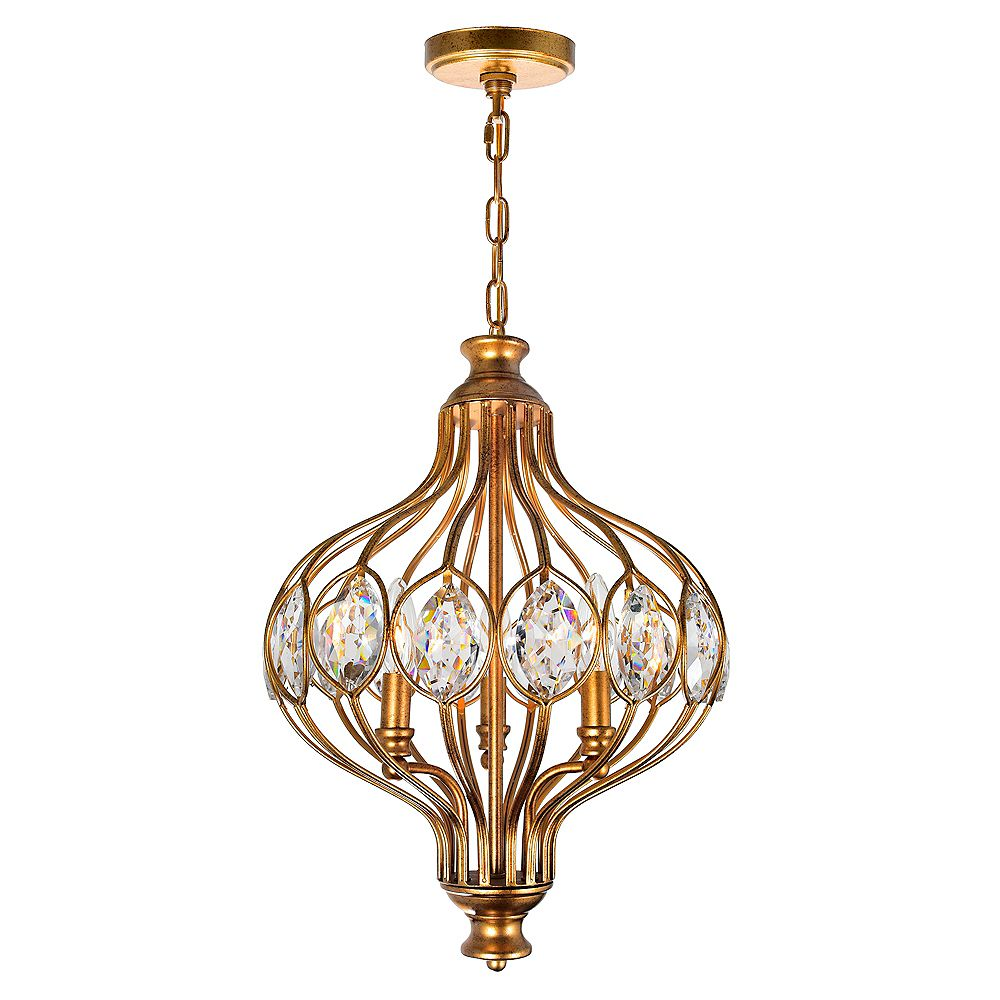 CWI Lighting Altair 14 inch 3 Light Chandelier with Antique Bronze Finish