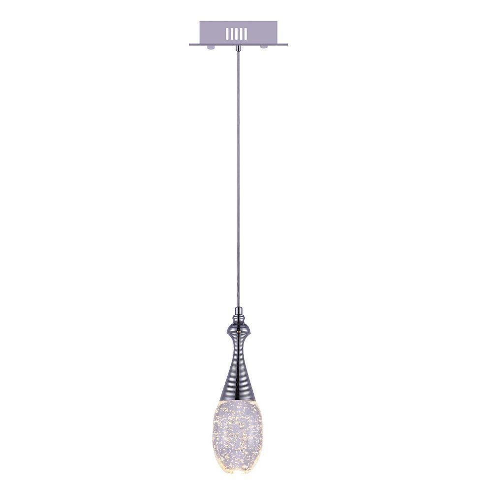 CWI Lighting Dior 5 inch 1 Light Mini Pendant with Chrome Finish