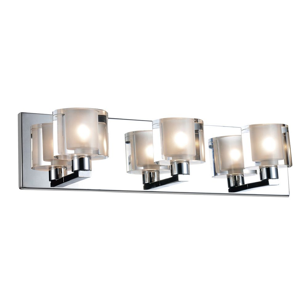 CWI Lighting Tina 19 inch 3 Light Wall Sconce with Chrome Finish