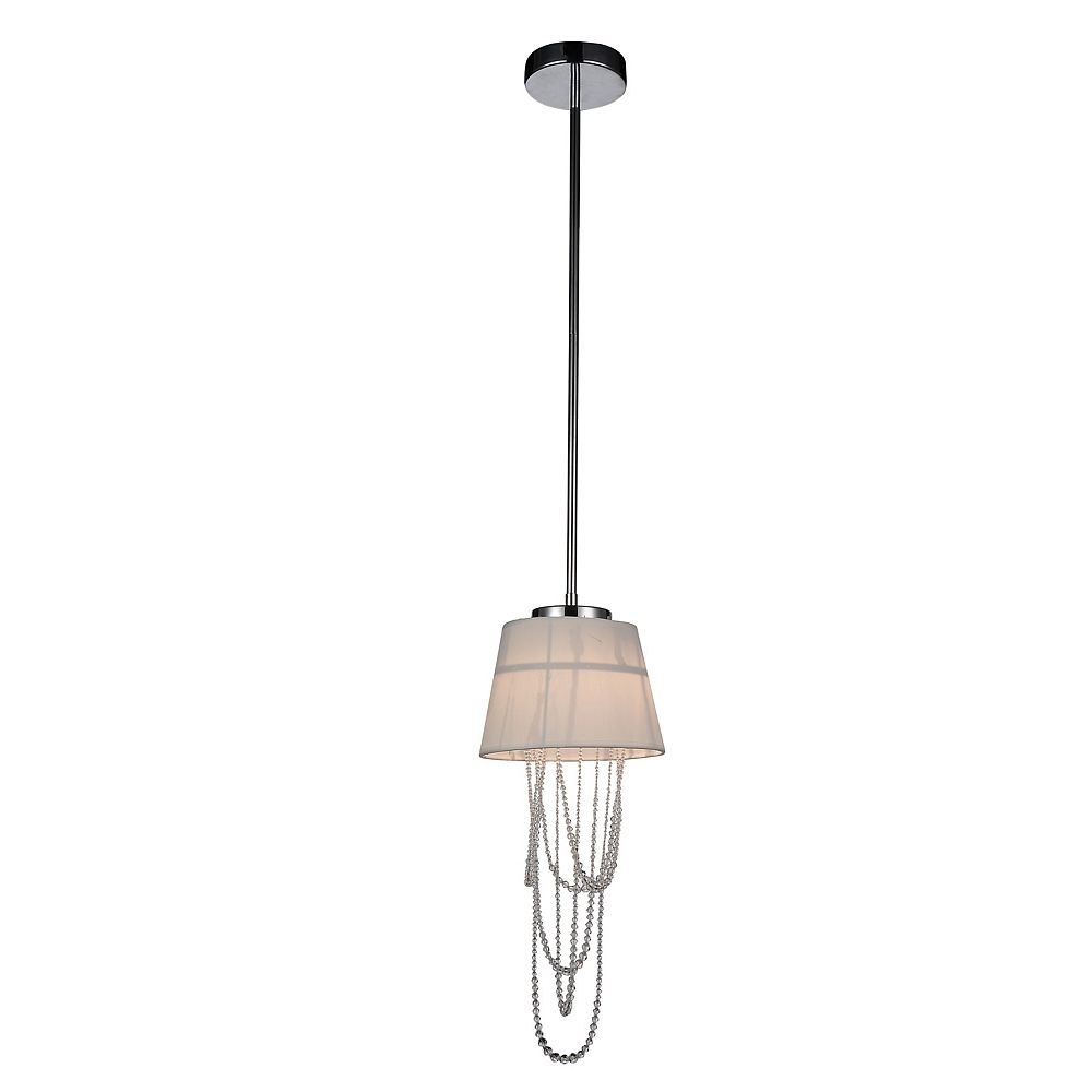 CWI Lighting Draped 8 inch 2 Light Mini Pendant with Chrome Finish