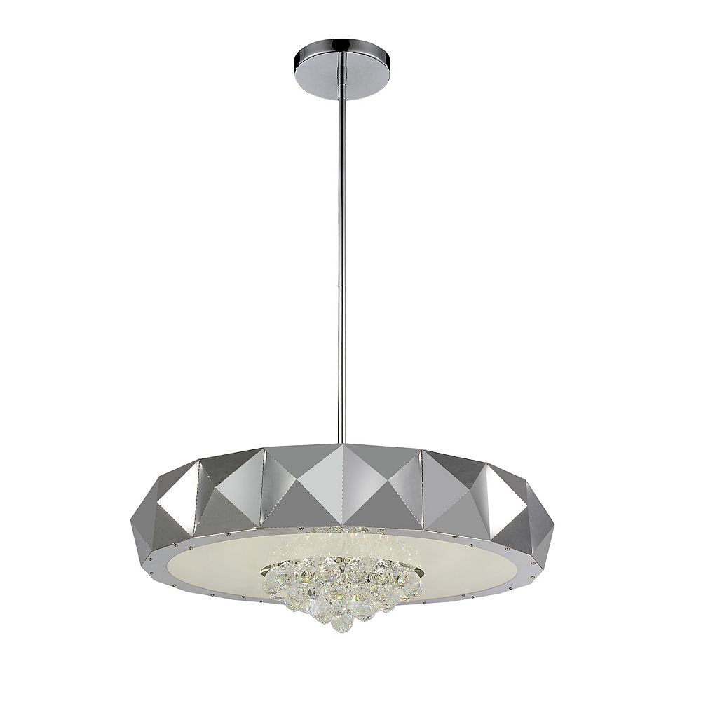CWI Lighting Meuse 30 inch 10 Light Chandelier with Chrome Finish
