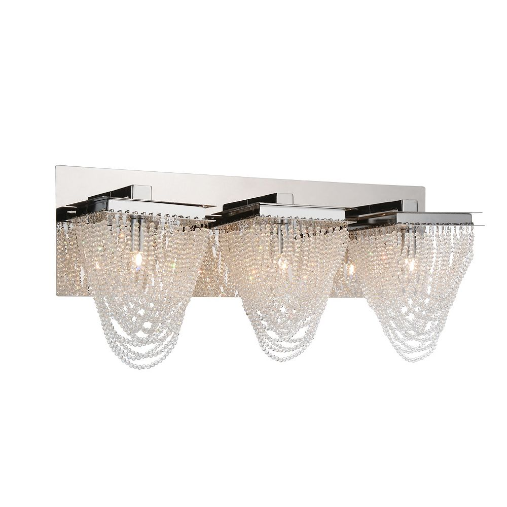 CWI Lighting Finke 21 inch 3 Light Wall Sconce with Chrome Finish