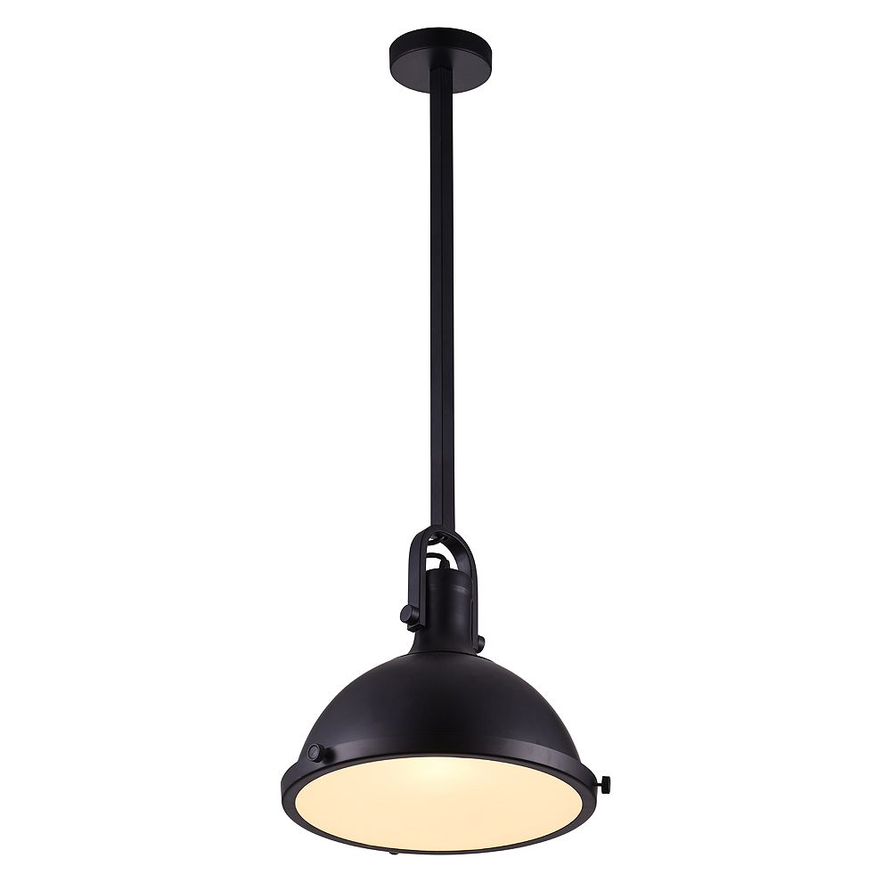 CWI Lighting Strum 12 inch 1 Light Chandelier with Black Finish