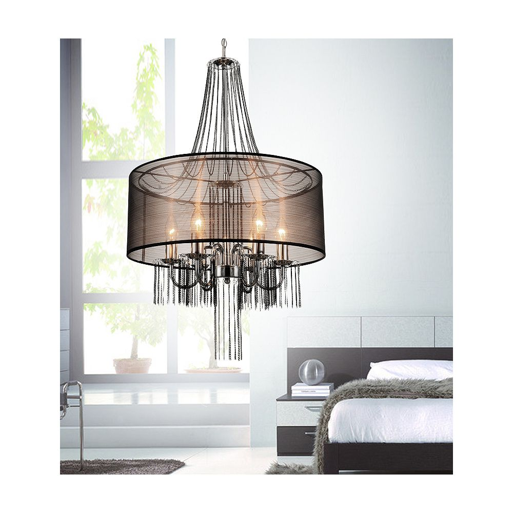 CWI Lighting Amelia 20 inch 6 Light Chandelier with Chrome Finish