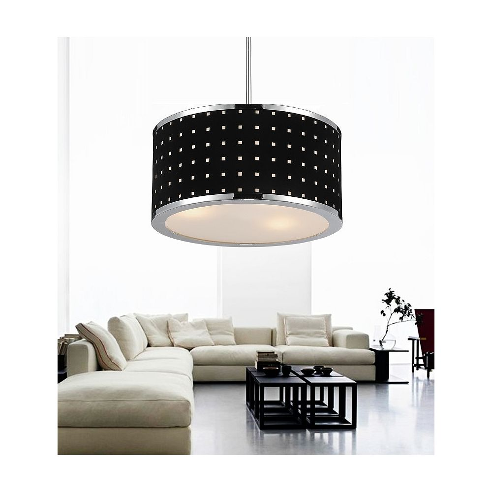 CWI Lighting Dot 16 inch 3 Light Chandelier with Chrome Finish