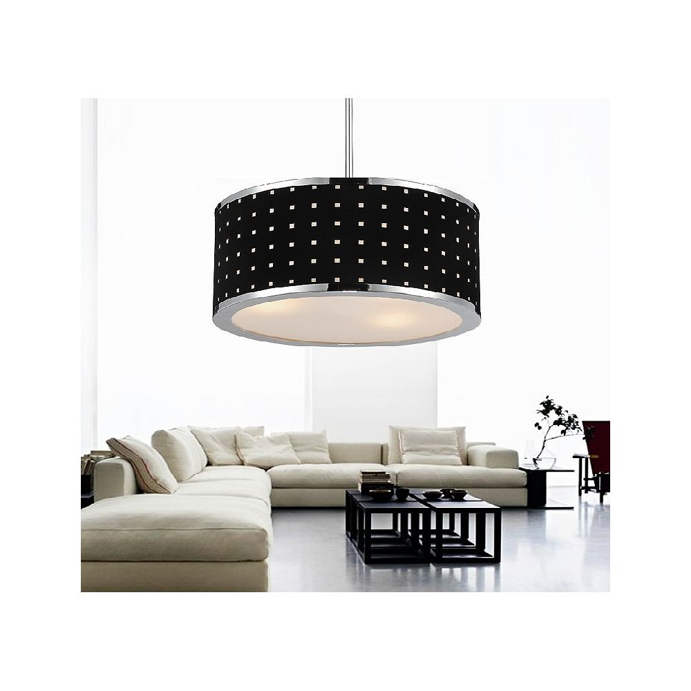 CWI Lighting Dot 18 inch 6 Light Chandelier with Chrome Finish