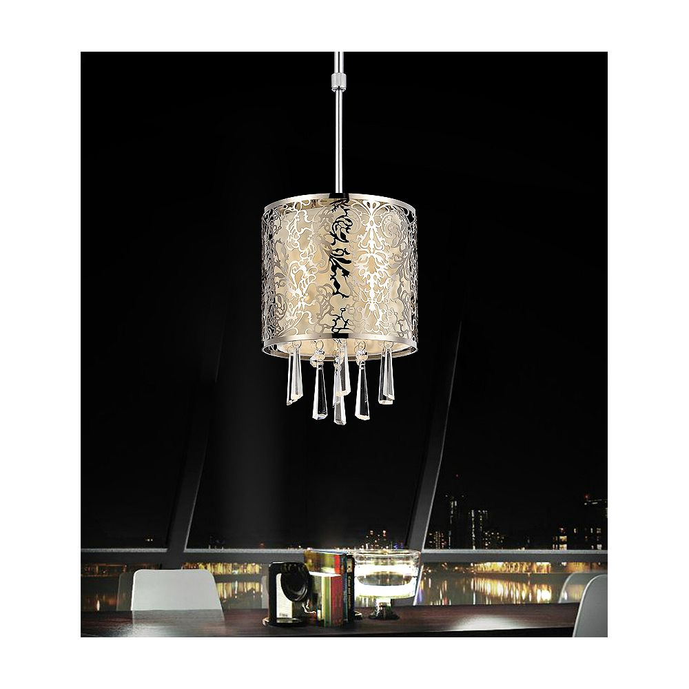 CWI Lighting Tresemme 6 inch 1 Light Mini Pendant with Satin Nickel Finish