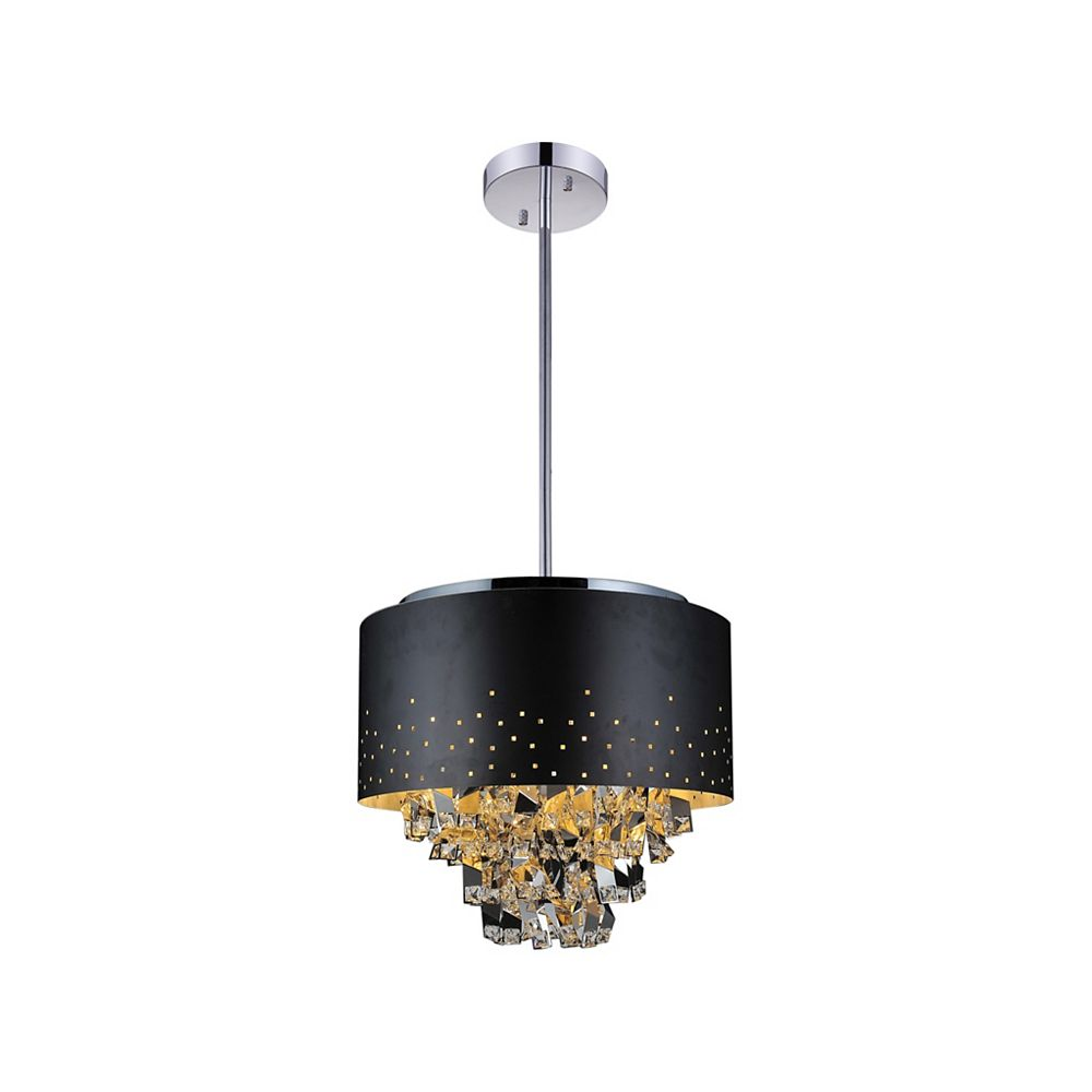 CWI Lighting Carmella 24 inch 9 Light Chandelier with Black Finish