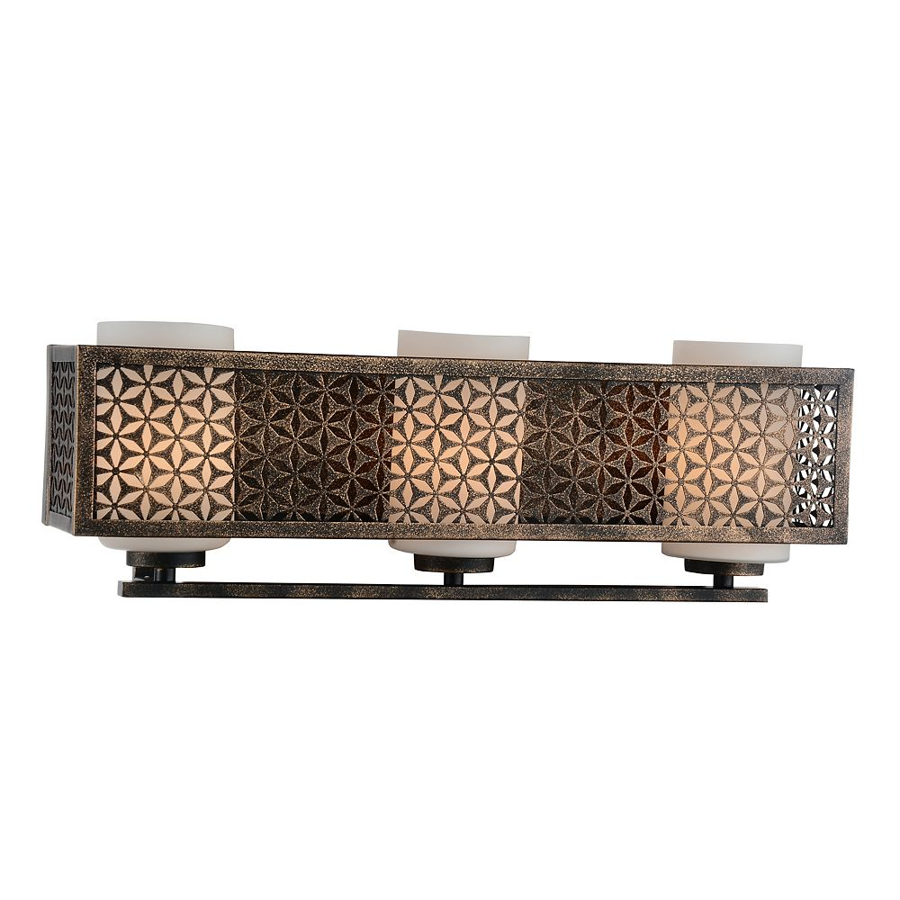 CWI Lighting Pollett 21 inch 3 Light Wall Sconce with Golden Bronze Finish