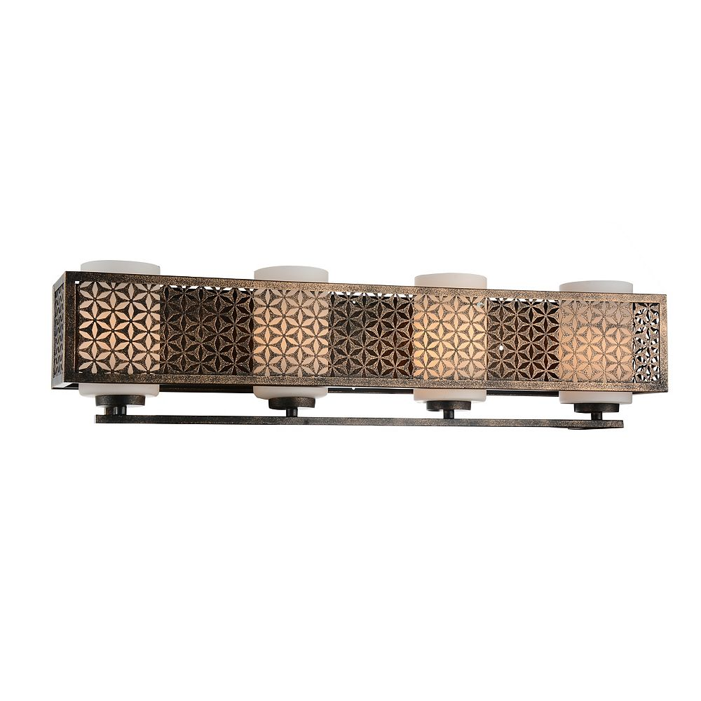 CWI Lighting Pollett 29 inch 4 Light Wall Sconce with Golden Bronze Finish