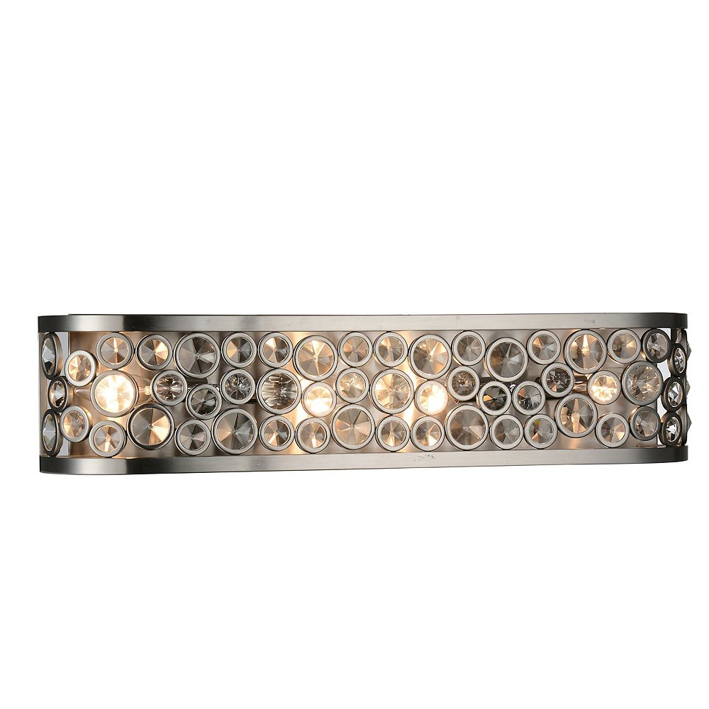 CWI Lighting Wallula 26 inch 4 Light Wall Sconce with Satin Nickel Finish