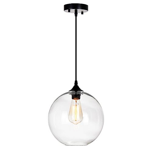 Glass 10 inch 1 Light Mini Pendant with Transparent Shade