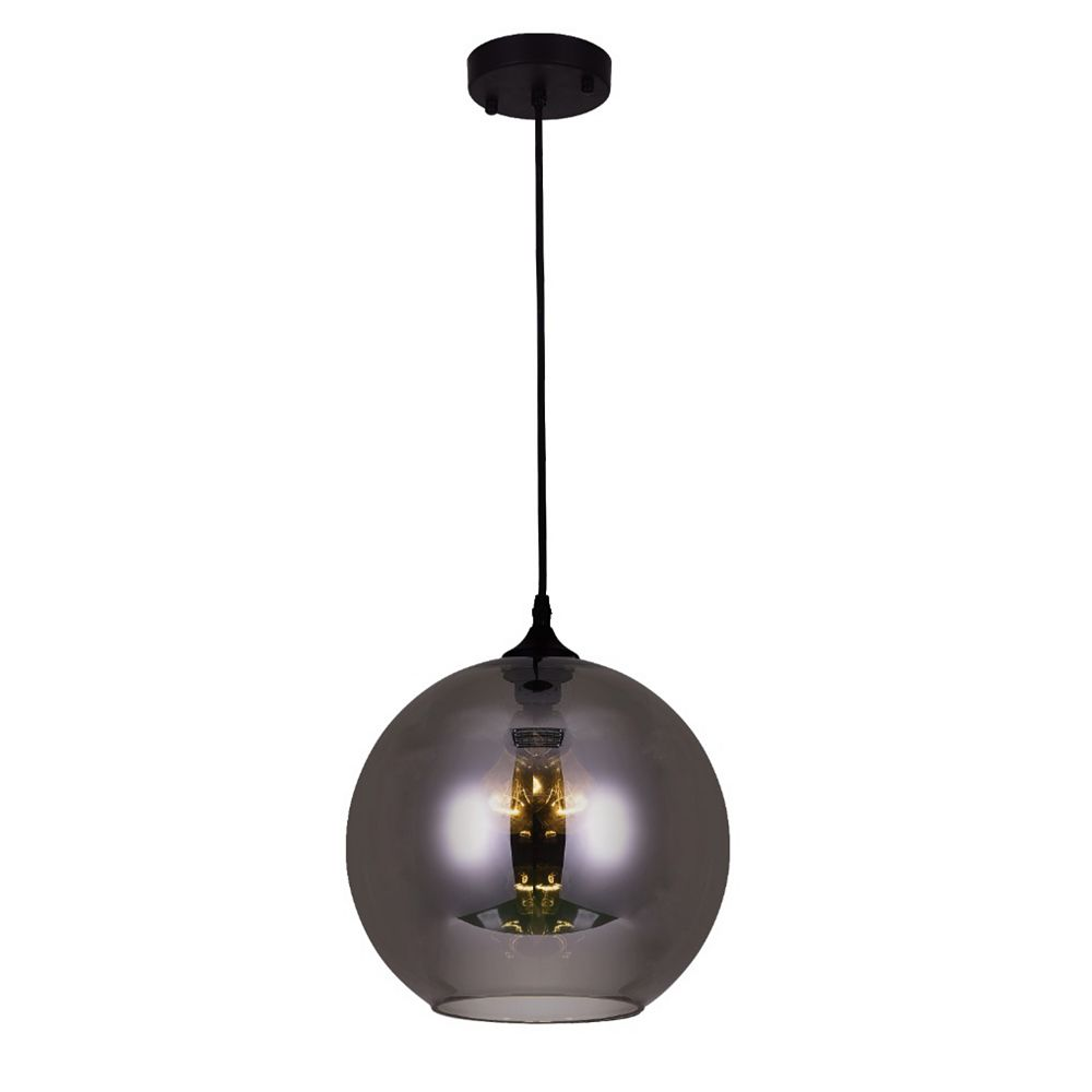 CWI Lighting Glass 12 inch 2 Light Mini Pendant with Transparent Smoke Shade