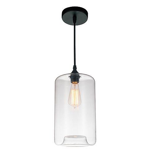 """CWI 7"""" Glass 1 Lumière Mini Pendentif avec Ombre Clair"""