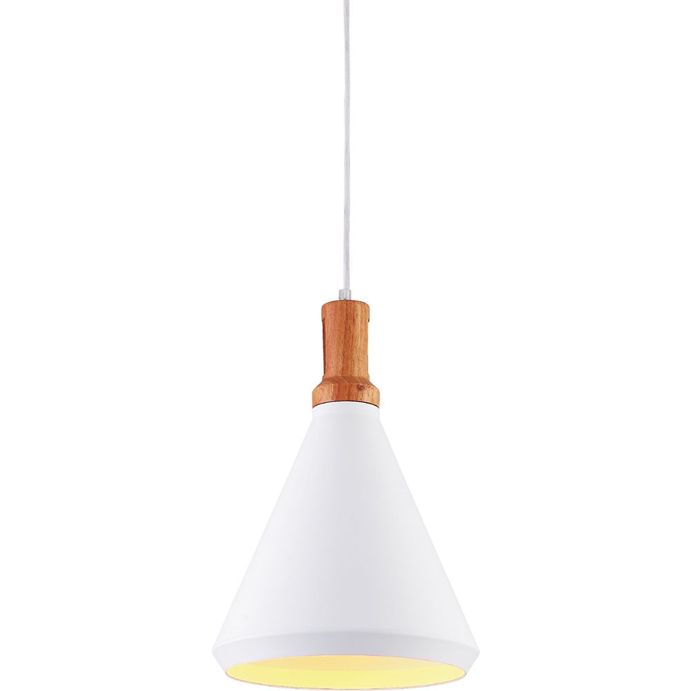 CWI Lighting Suzie 10-inch 1-Light Mini Pendant Light Fixture with White Finish