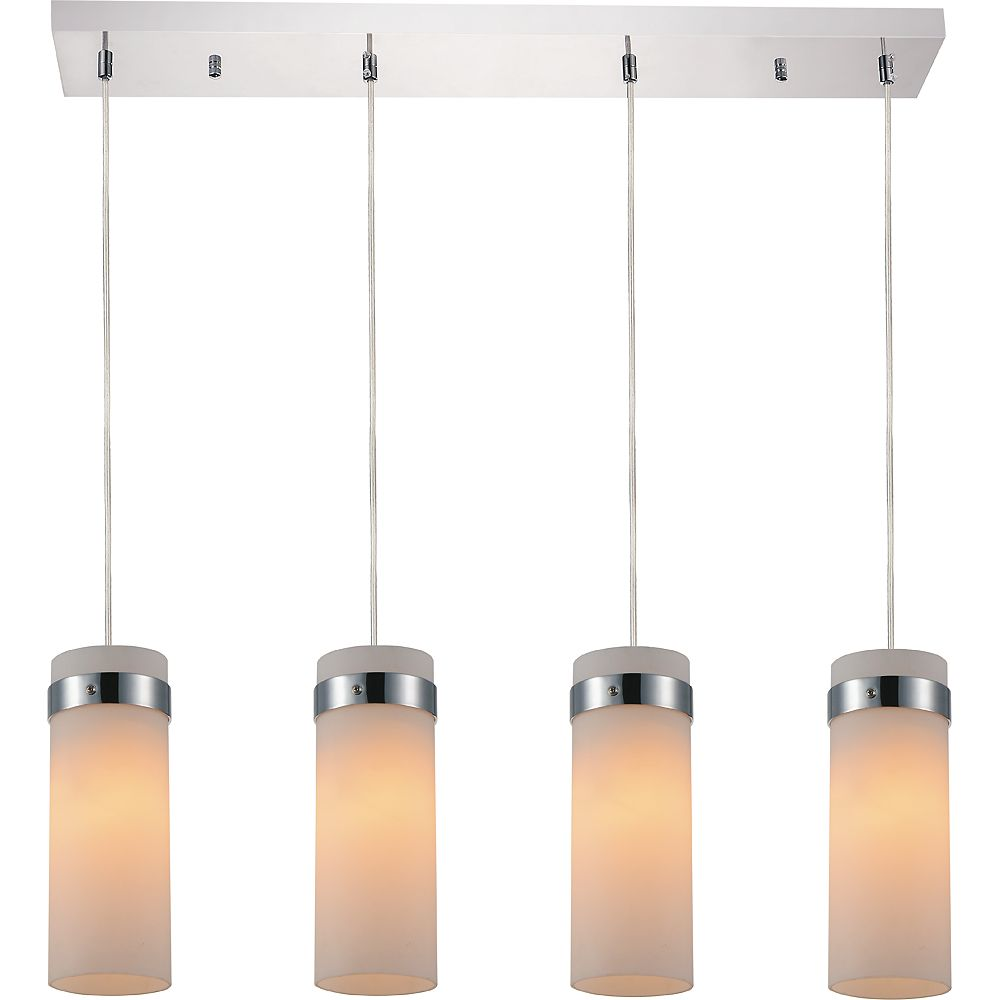 CWI Lighting Olivia 4 inch 4 Light Chandelier with Chrome Finish