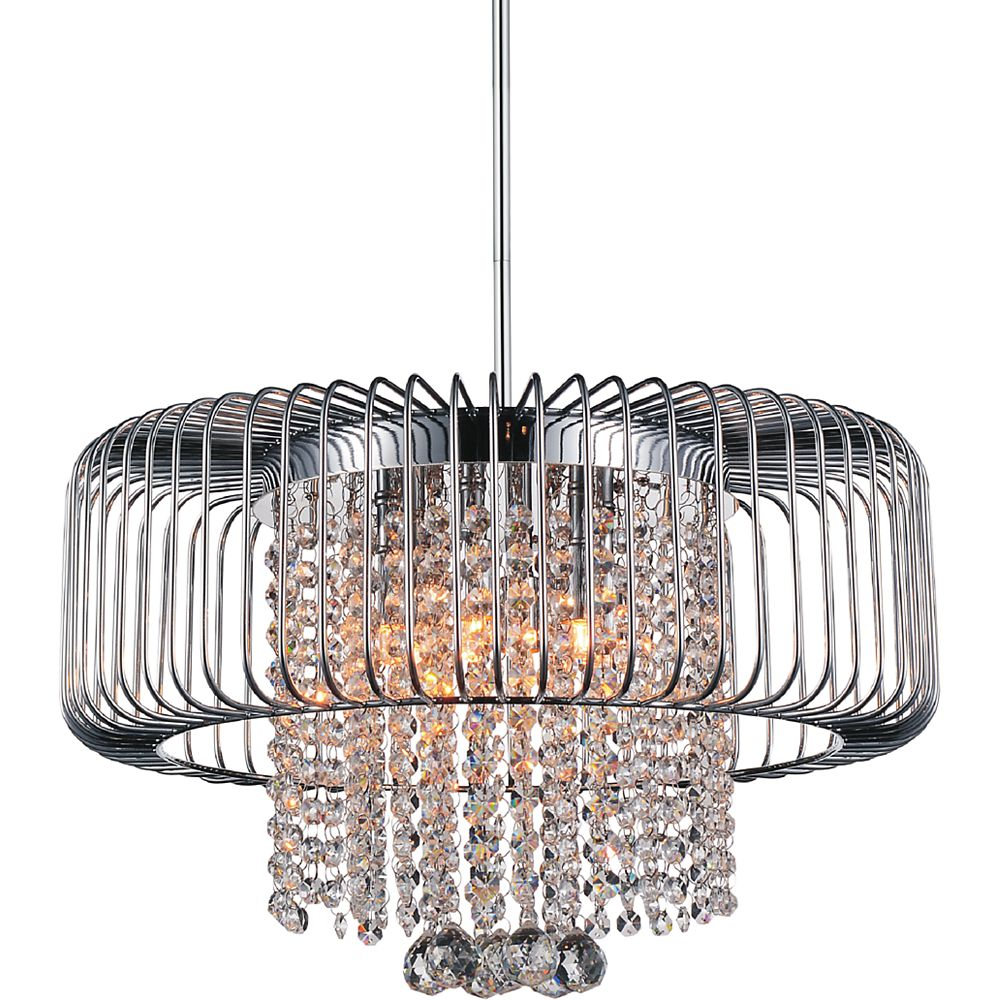 CWI Lighting Gloria 18 inch 6 Light Chandelier with Chrome Finish