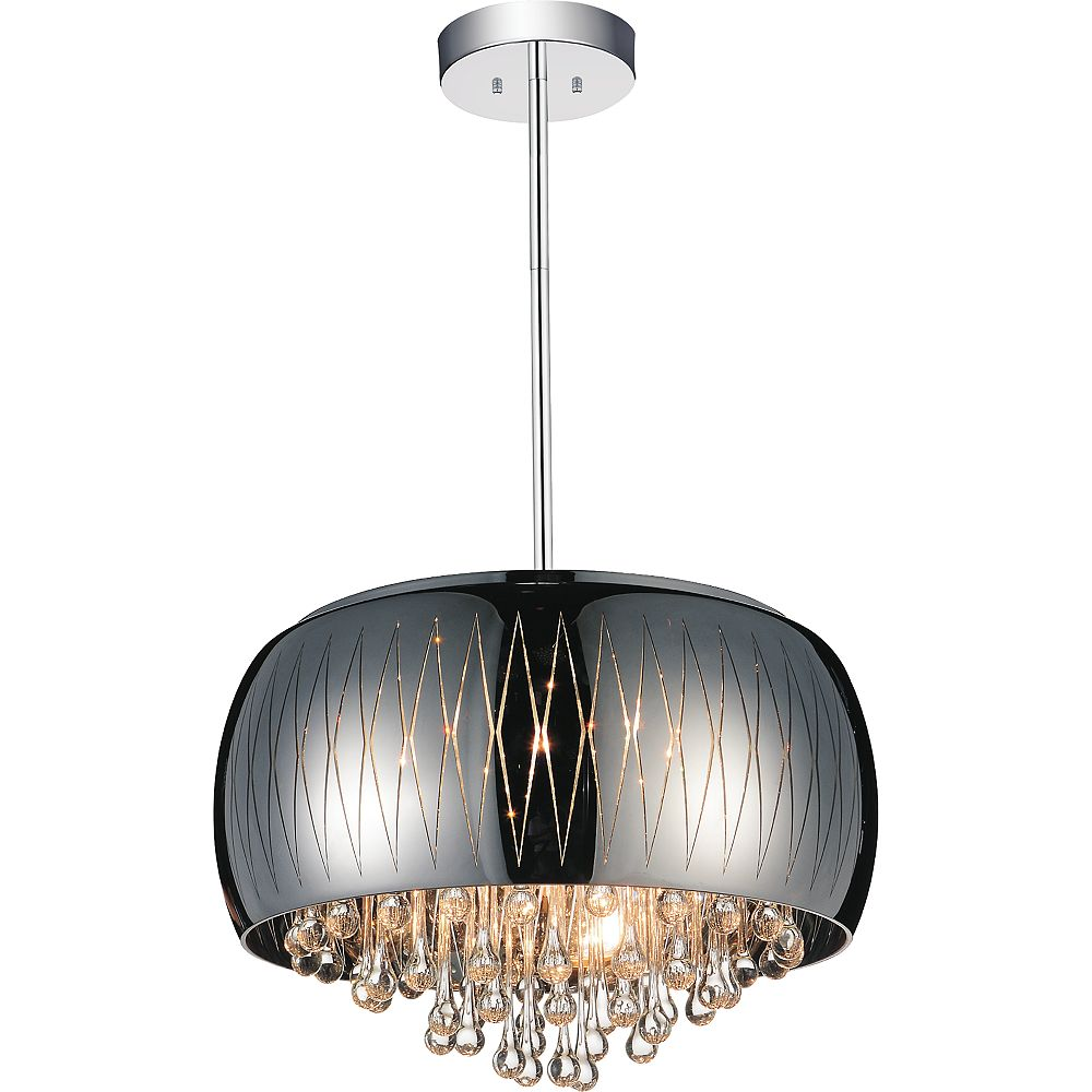 CWI Lighting Movement 20 inch 6 Light Chandelier with Chrome Finish