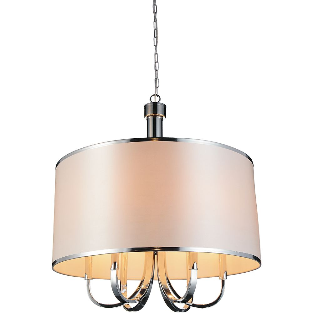 CWI Lighting Orchid 24 inch 6 Light Chandeliers with Chrome Finish