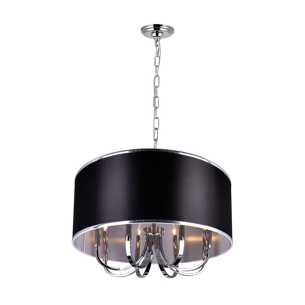 CWI Lighting Orchid 30 inch Single Light Chandeliers with Chrome Finish