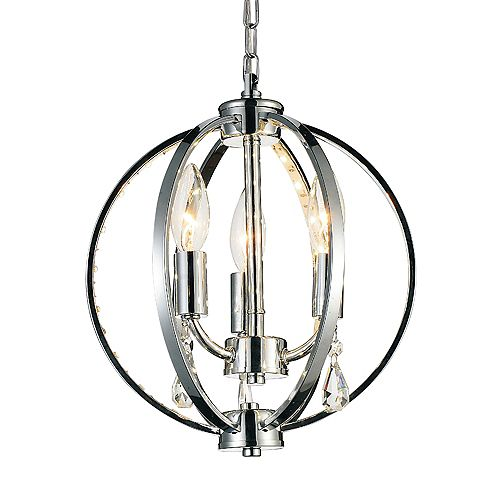 CWI Lighting Abia 10 inch 3 Light Mini Pendants with Chrome Finish