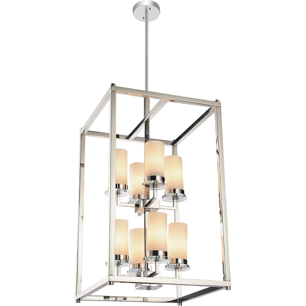CWI Lighting Margie 18 inch 8 Light Chandeliers with Chrome Finish