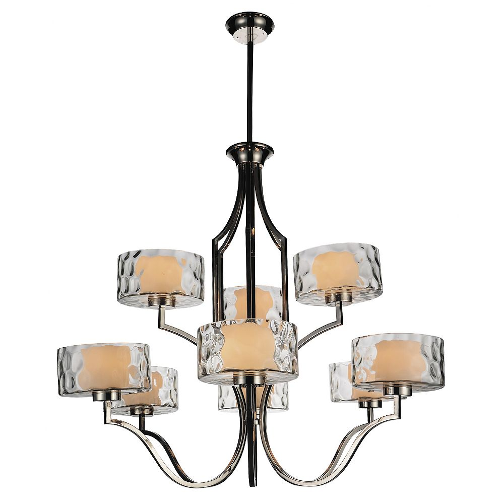 CWI Lighting Lorri 37 inch 9 Light Chandelier with Chrome Finish