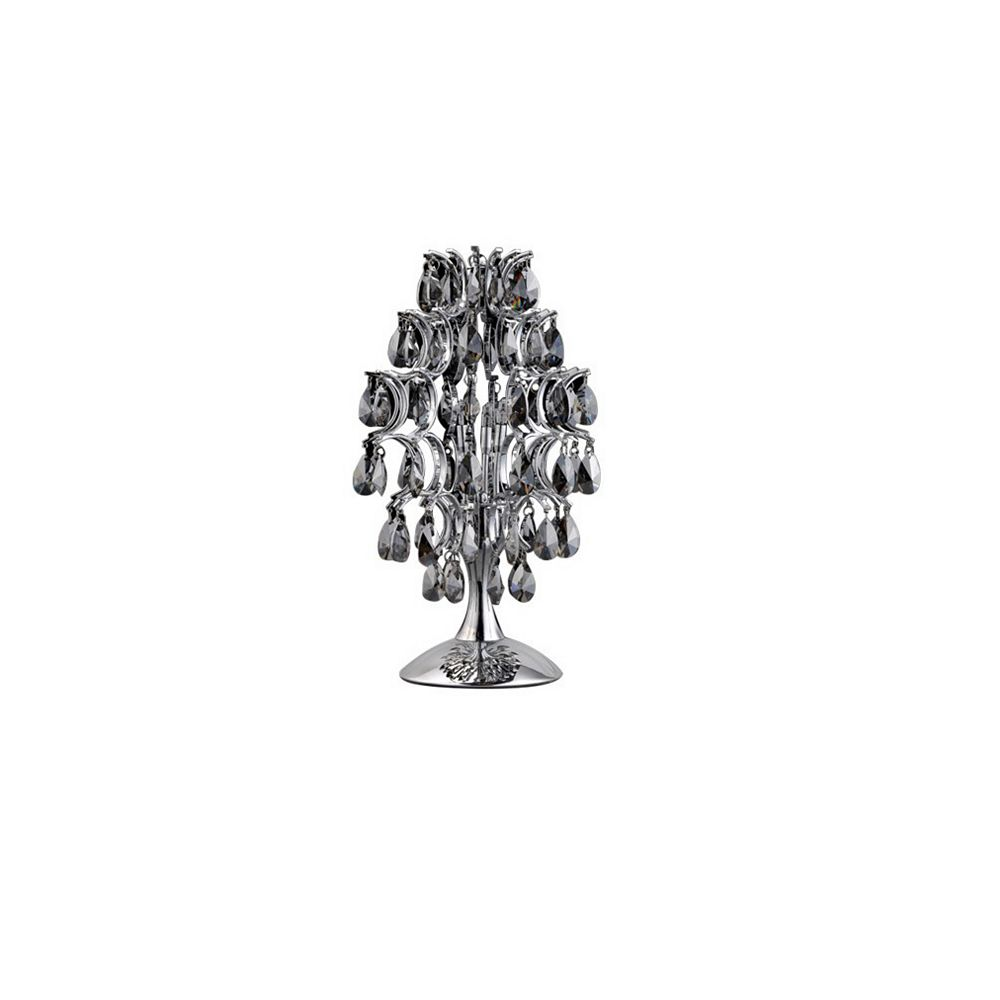 CWI Lighting Charismatic 9 inch 3 Light Table Lamp with Chrome Finish