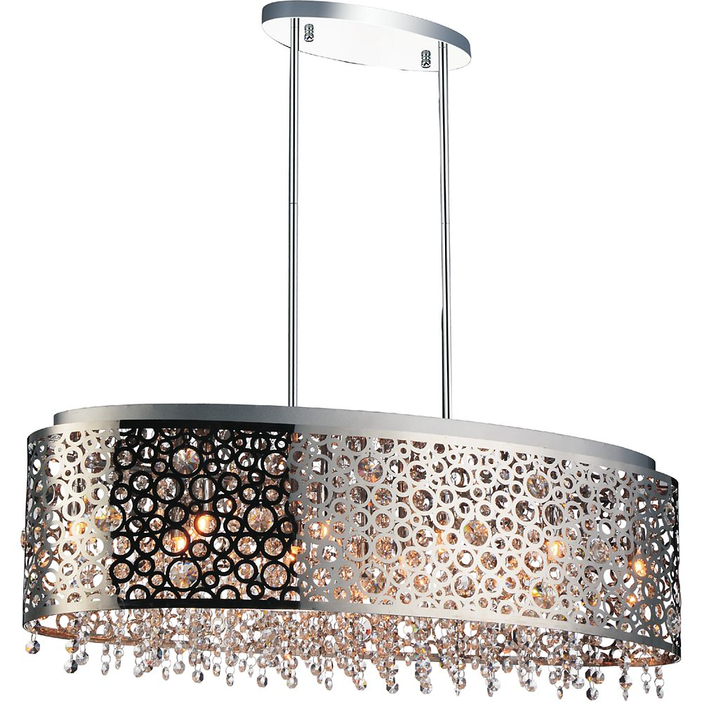CWI Lighting Bubbles 30 inch 11 Light Chandelier with Chrome Finish