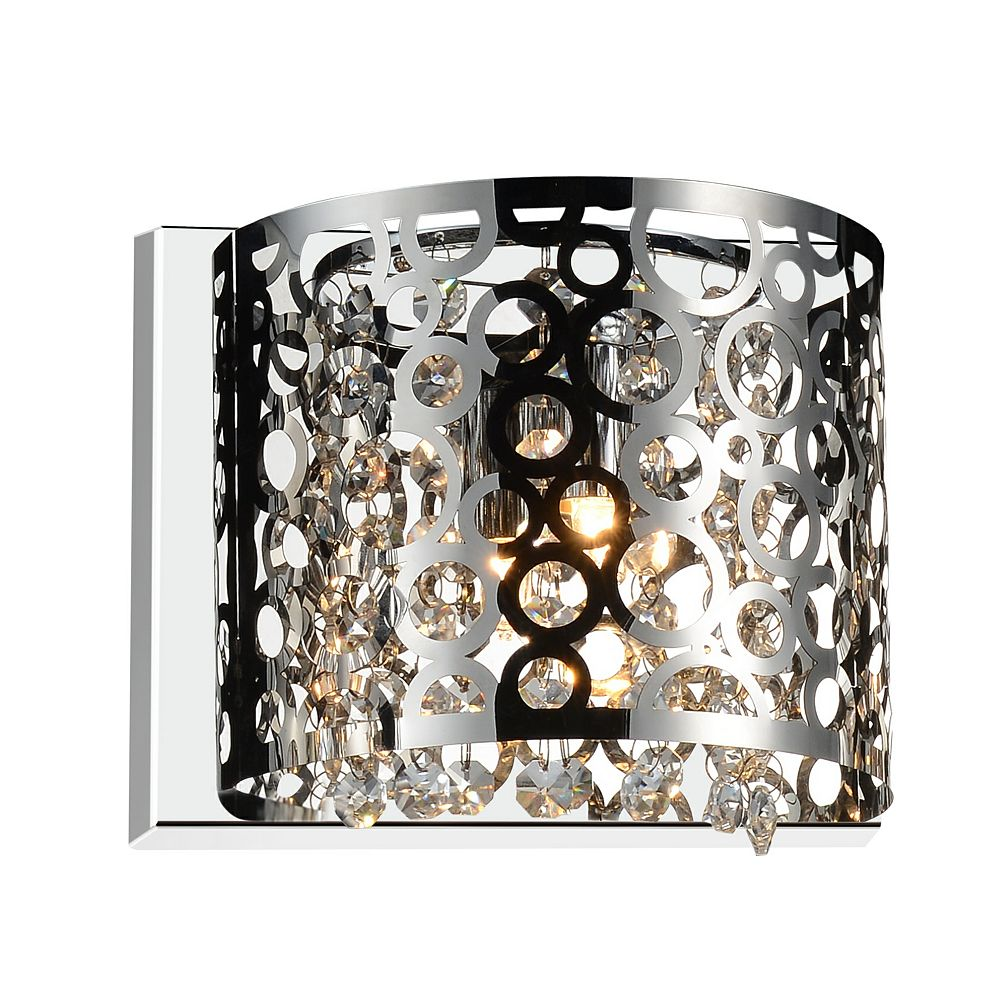 CWI Lighting Bubbles 8 inch Single Light Wall Sconce with Chrome Finish