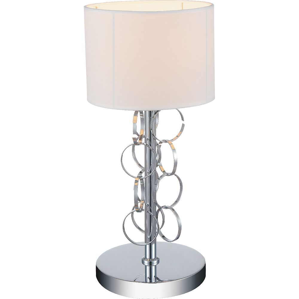 CWI Lighting Chained 11 inch 1 Light Table Lamp with Chrome Finish