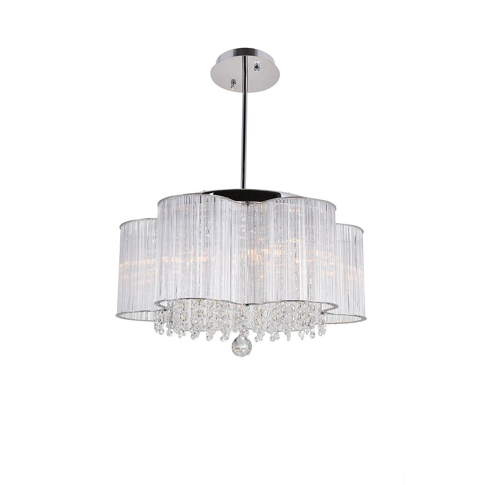 CWI Lighting Spring Morning 20-inch 7 Light Chandelier with Chrome Finish