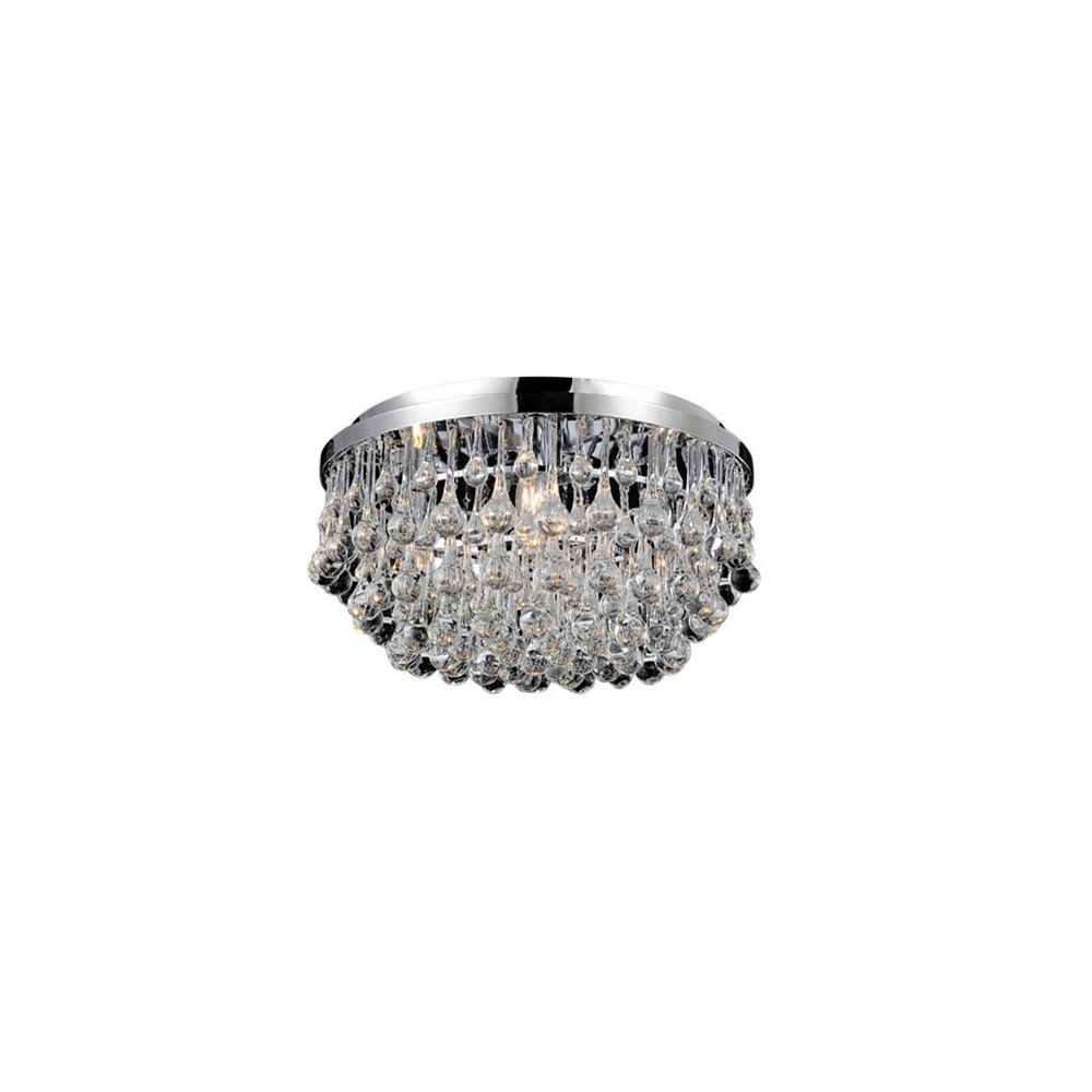 CWI Lighting Atlantic 18-inch 6 Light Flush Mount with Chrome Finish