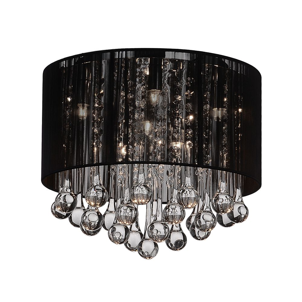 CWI Lighting Water Drop 16.5-inch 6 Light Flush Mount with Chrome Finish