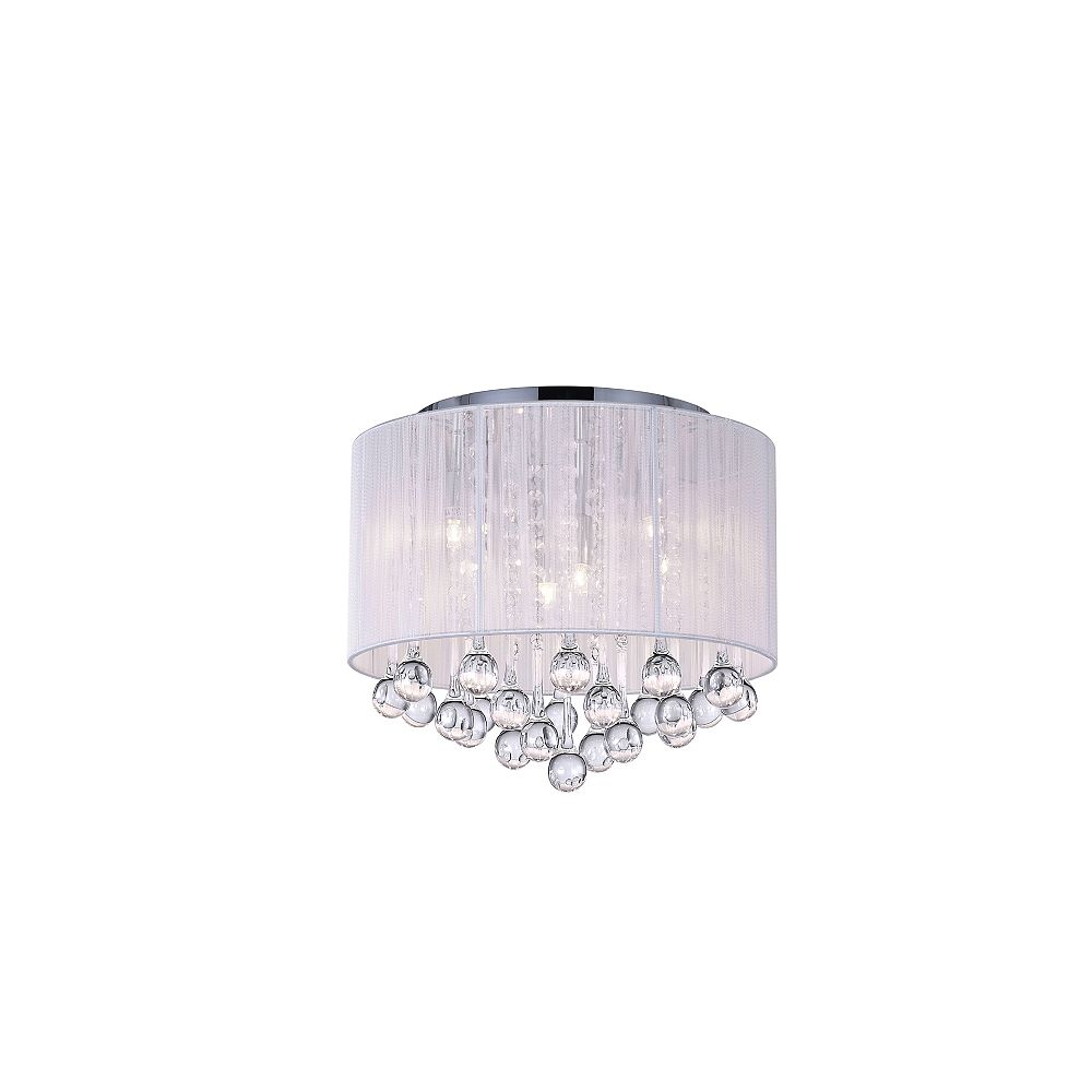 CWI Lighting Water Drop 16.5 inch 6 Light Flush Mount with Chrome Finish