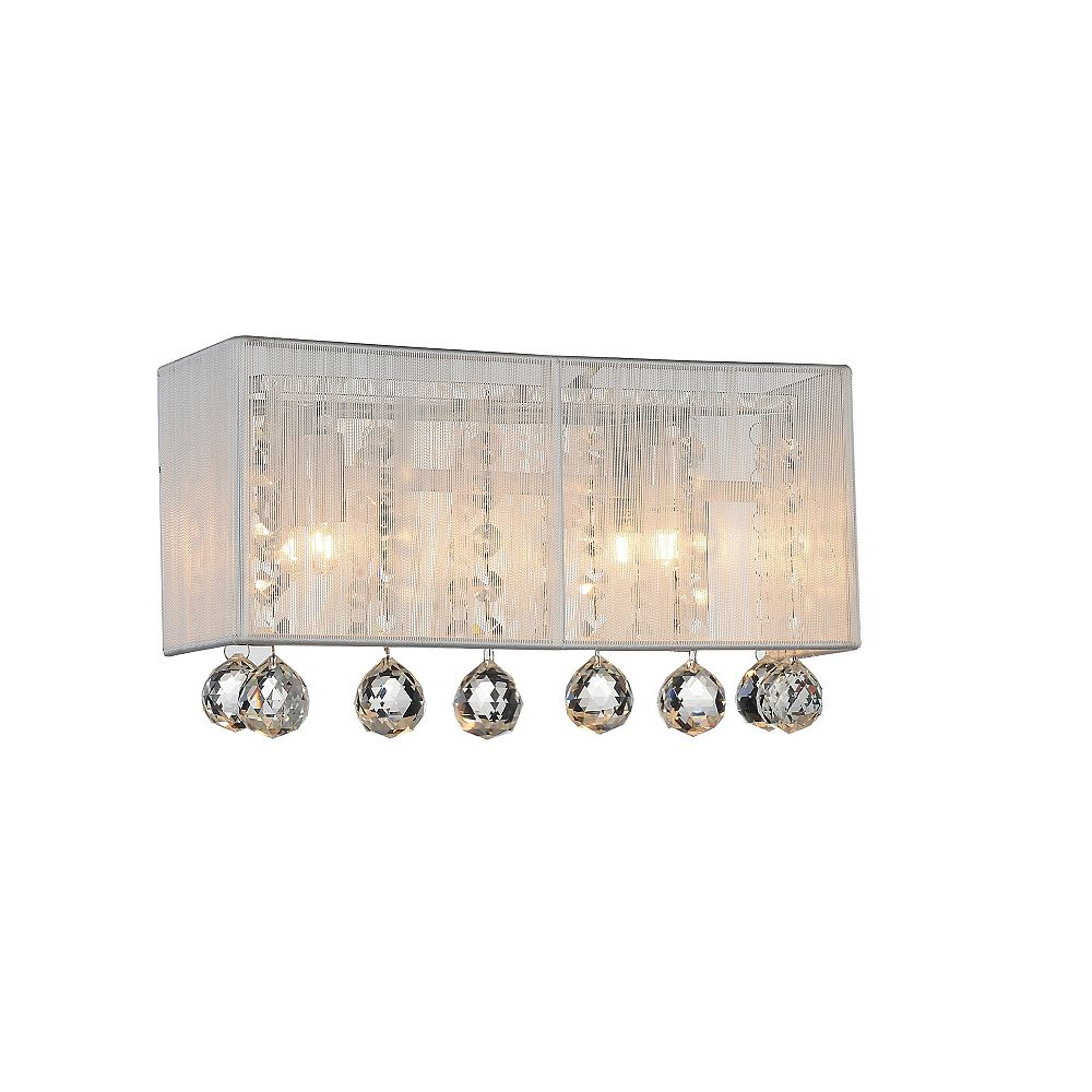 CWI Lighting Water Drop 18 inch 3 Light Wall Sconce with Chrome Finish and Silver Shade