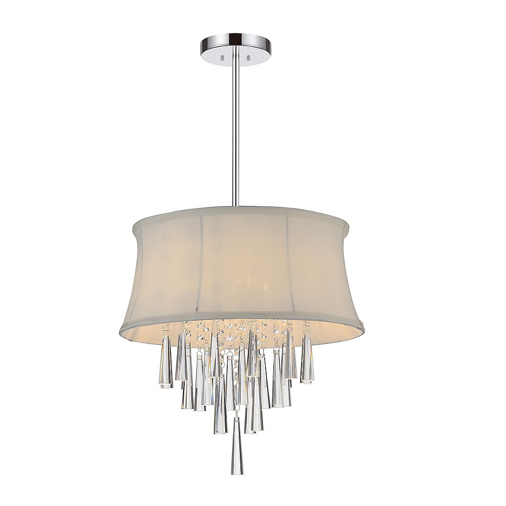 CWI Lighting Audrey 16 inch 4 Light Chandelier with Chrome Finish