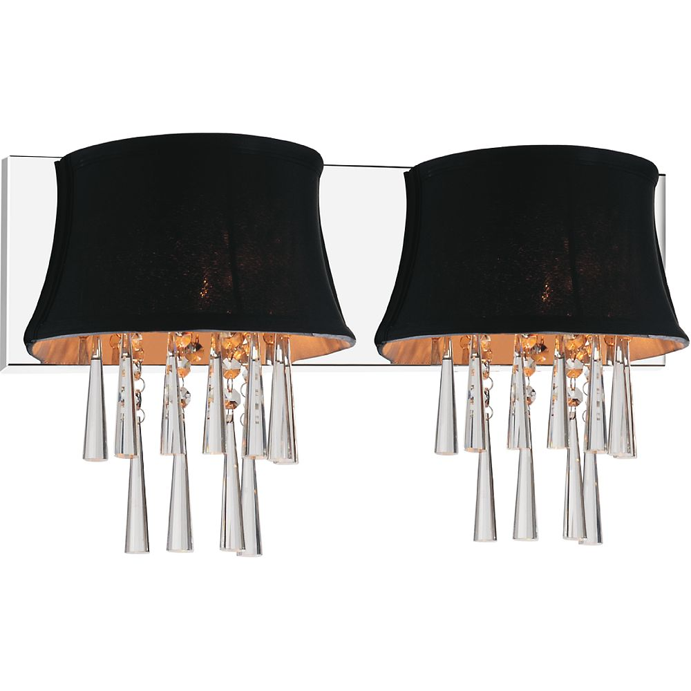 CWI Lighting Audrey 21 inch Two Light Wall Sconce with Chrome Finish
