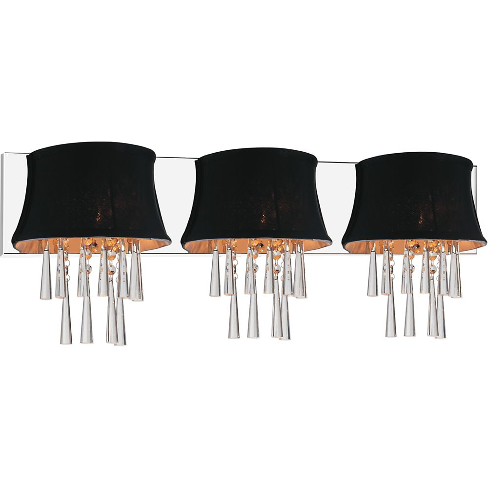 CWI Lighting Audrey 32 inch Three Light Wall Sconce with Chrome Finish
