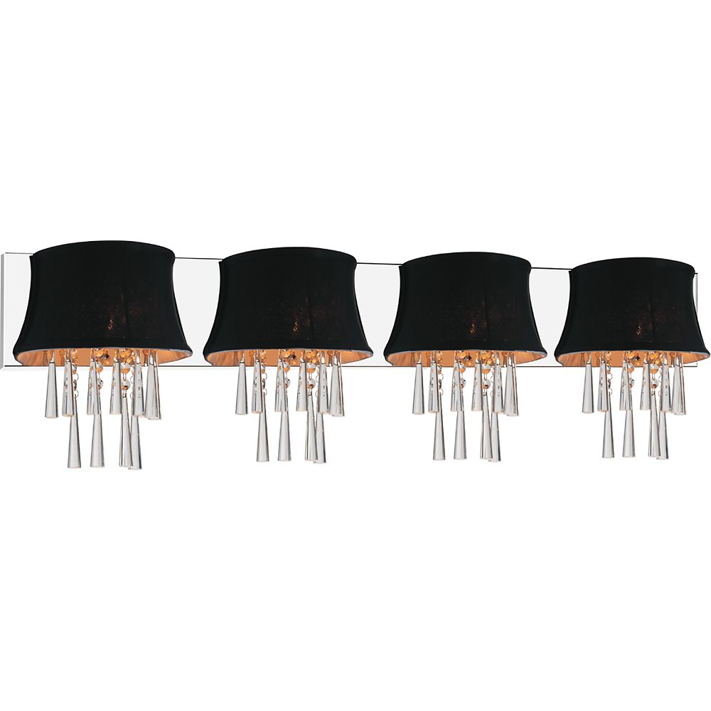 CWI Lighting Audrey 43 inch Four Light Wall Sconce with Chrome Finish