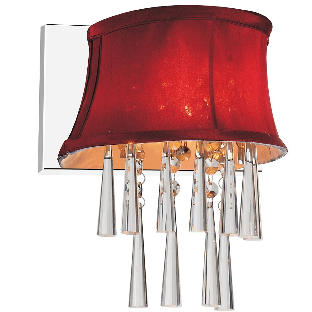 CWI Lighting Audrey 9-inch 1 Light Wall Sconce with Chrome Finish