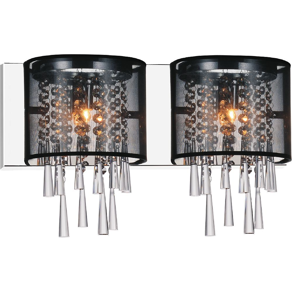 CWI Lighting Renee 19-inch 2 Light Wall Sconce with Chrome Finish