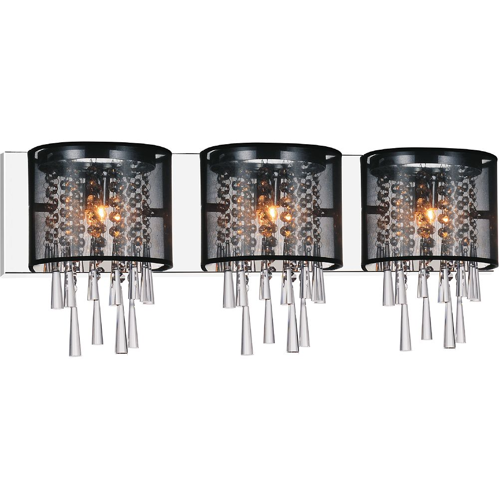 CWI Lighting Renee 29 inch Three Light Wall Sconce with Chrome Finish