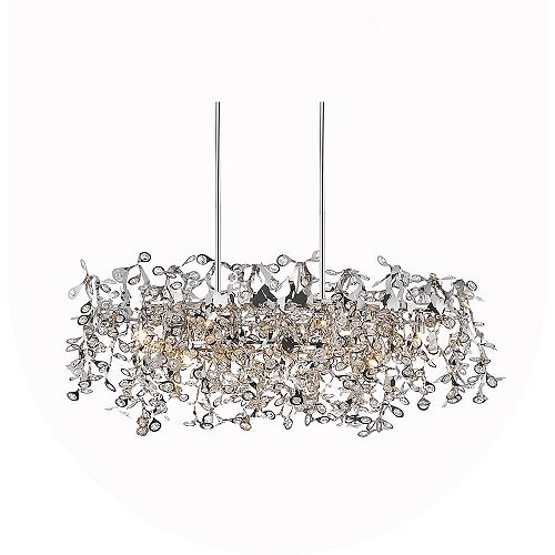 CWI Lighting Flurry 37 inch 7 Light Chandelier with Chrome Finish