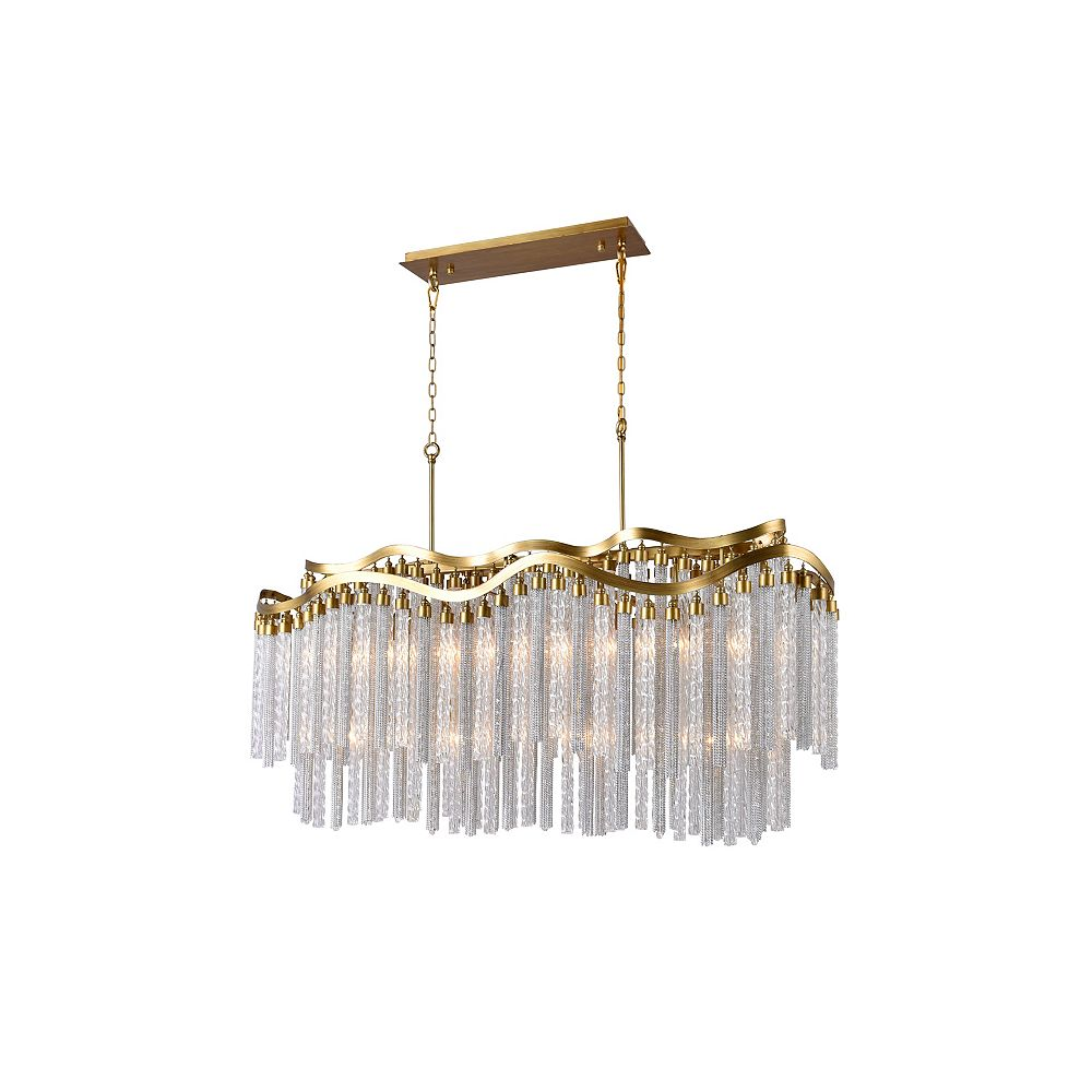 CWI Lighting Storm 47 inch 12 Light Chandelier with Gold Finish