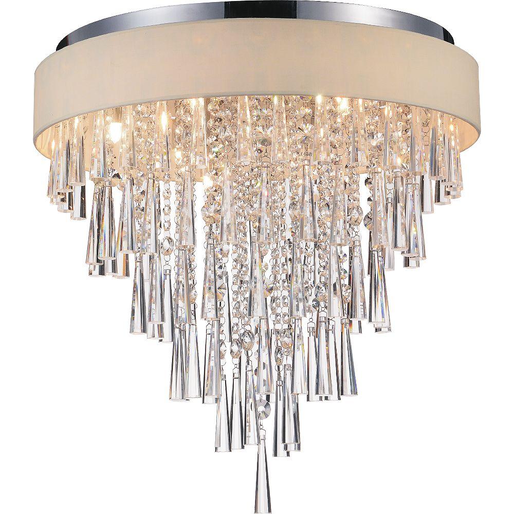 CWI Lighting Franca 22-inch 8 Light Flush Mount with Chrome Finish