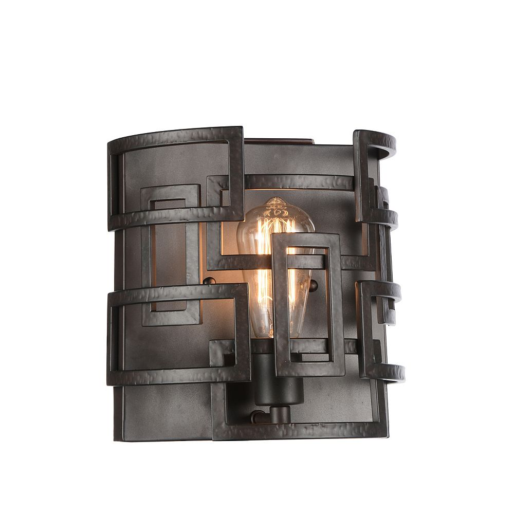 CWI Lighting Litani 10 inch 1 Light Wall Sconce with Brown Finish